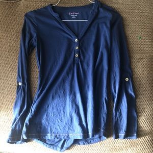 Lily Pulitzer Navy Blue Long Sleeve